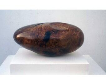 modern walnut wood sculpture