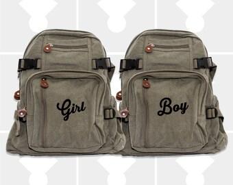 Backpacks, Girls Backpack, Boys Backpack, Diaper Bag Backpack, Wife & Husband, Customized Backpack, Personalized Backpack, Monogram Backpack