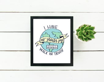 Instant Download Gallery Wall Print - Walk in truth