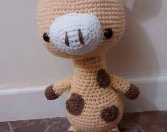 Crochet giraffe - handmade amigurumi - big head giraffe - stuffed animal - crochet toy