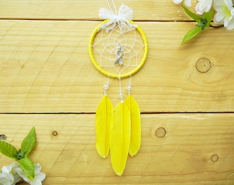 Yellow Awareness Ribbon Dreamcatcher: Adoption Gift, Car Accessory, Endometriosis Awareness, Support Our Troops, Liver Cancer Awareness