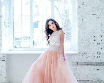 Blush wedding dress etsy blush wedding dress junglespirit Choice Image
