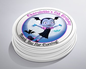 Vampirina Party, Vampirina Birthday, Stickers, Birthday Party, Vampire Party, Party Supplies, Girl Birthday Party, Party Favors,