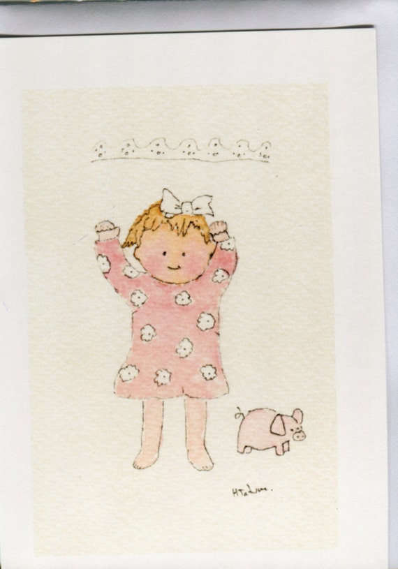 No 54 Baby Girl Card 1st Birthday Cards Cards For Girls Pink