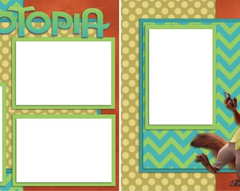 Zootopia - Digital Scrapbooking Quick Pages - INSTANT DOWNLOAD