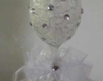 Handmade Bridal Toasting Glass.