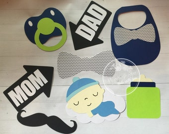Little man its a boy baby shower photo props its a girl
