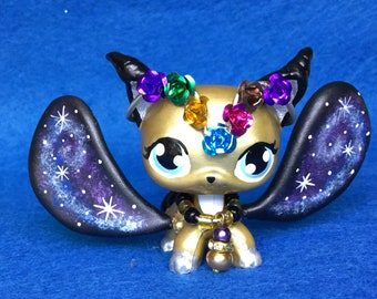 Littlest Pet Shop Cute, Night Short Hair LPS Ooak Custom, Galaxy Nice!