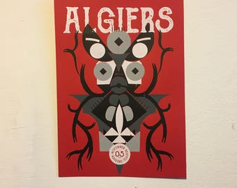 "Gigposter ""Algiers"""