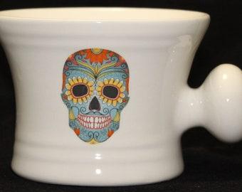 Day of the Dead - Sugar Skull Blue - Dia De Los Muertes- shaving mug