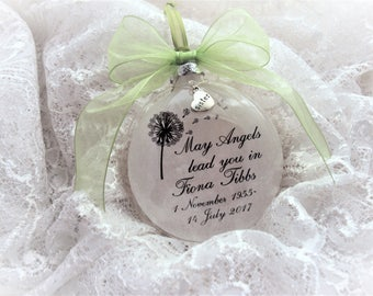 Memorial Gift Ornament May Angels Lead You In, with charm