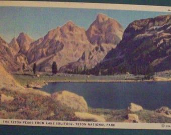 Harrison Crandall, Grand Teton National Park Linen Era Postcard, 1938