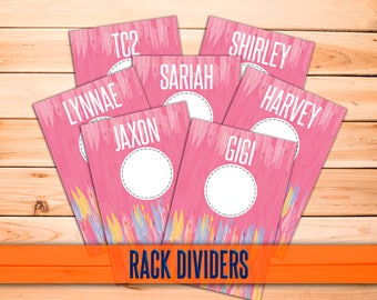 "SaLe! NEW Clothing Rack Dividers! H O Approved Fonts and Colors! 4x6"" Print Ready; hanger tags; clothing dividers; INSTANT DOWNLOAD!"