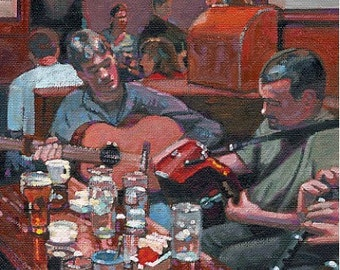 Color Print of Oil Painting, Doolin Pub, Ireland