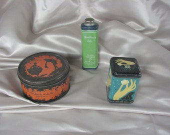 Antique Cosmetic Tins..............................          Collection of 3
