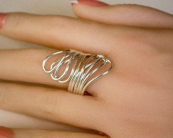 Beautiful Sterling Silver Wraparound Ring for Women