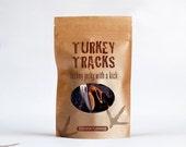 Turkey Tracks Bourbon Flavored Jerky 4 oz. Resealable Bag