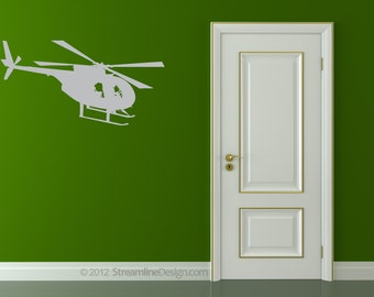 Helicopter Ride Removable Vinyl Wall Art, airplane flying helicopter wall sticker boys room playroom airplane theme kids room