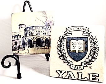 Yale University Coaster Set (includes 4 tiles)