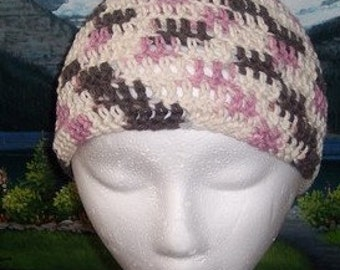 Scct 020 Hand crochet child / teen cotton chemo cap
