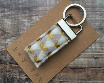 Fabric Key Ring  - Key Fob - Key Chain