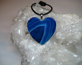 Agate necklace, agate pendant, agate stone, agate heart, gemstone pendant, Boho necklace, agate with silver, agate jewelry, gift
