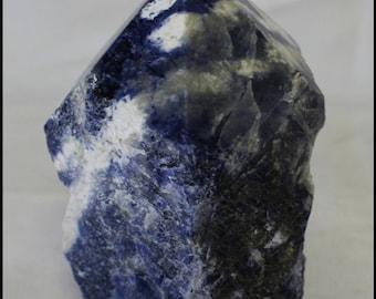 Sodalite Point Gemstone Point Metaphysical Throat Chakra Reiki Stone Meditation Crystal Trendy Office Decor Gifts for Home Birthday Gifts
