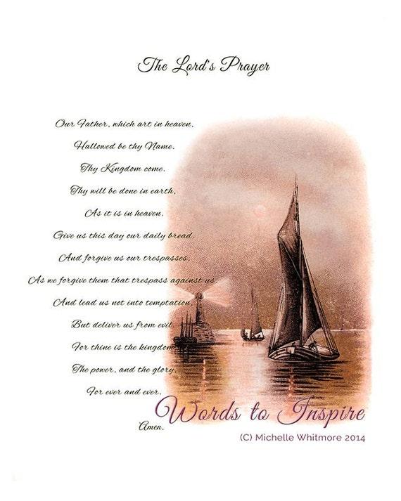 The Lord's Prayer Traditional version Matthew 6: 9-13.