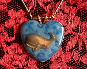 "Whale Love pendant with 19"" necklace"