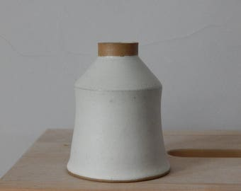 Scandi Beige White Ceramic Vase Simple Home Decor
