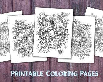 Advanced Coloring Pages Of Letters : Mandala coloring pages kaleidomania printable coloring