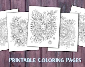 Mandala Coloring Pages Adults Printable : 60 mandala coloring pages kaleidomania: printable coloring