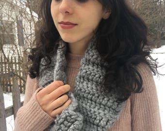 Grey Crocheted Neck Warmer