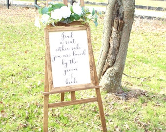 Pick A Seat Not A Side | Rustic Wood Wedding Sign | Wedding Decoration | Wedding Sign | Farmhouse Wedding | Rustic Wedding