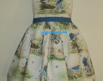 NEW Handmade Daisy Kingdom Holly Hobbie Scenic Dress Deluxe  Custom Size