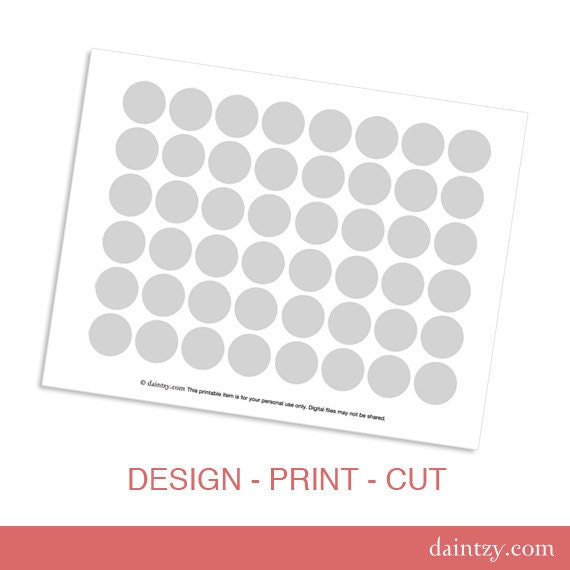 Instant download mini cupcake topper printable template diy instant download mini cupcake topper printable template diy blank make your own party circles design template by daintzy pronofoot35fo Image collections