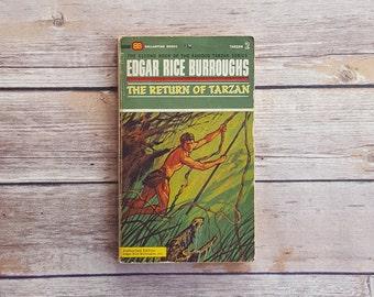 The Return Of Tarzan Edgar Rice Burroughs Tarzan Novel Second Book Of The Famous Tarzan Series 1960s Vintage Jungle Book Adventure Story