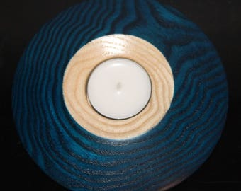 """""""Cosmos"""" blue candle holder"""
