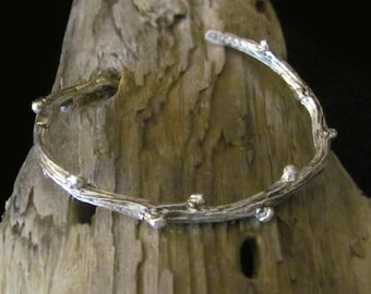 Perfect Budding Branch Bracelet - Cast Branch in Sterling Silver