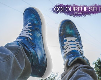 Light Up Galaxy Hi-Tops
