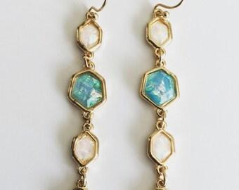 SALE.... Long Dangle Earrings, Bridesmaid Earrings