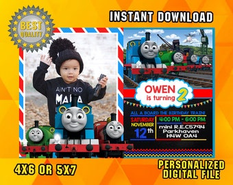 Thomas The Train Birthday Thomas Train Invitation Thomas
