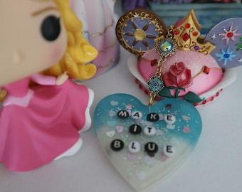 "Sleeping Beauty Inspired ""Make It Blue!"" Resin Key-Chain"