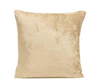 Gold Velvet Pillow Cover Gold Velvet Cushion Case Minimalist Pillow Velvet Throw Pillow Velvet Lumbar Pillow Gold Luxury Pillow Modern Decor