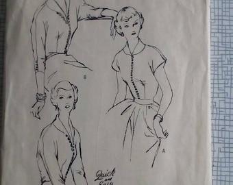 "1950s Kimono Blouse - 34"" Bust - Butterick 4878 - Vintage Sewing Pattern"