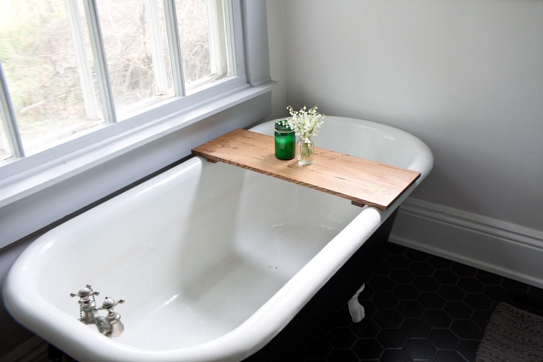 Oak Bathtub Tray Caddy Wooden Bath Tub Caddy Wood Bathtub
