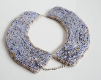 knitted necklace kit - sail away with me - hand dyed yarn