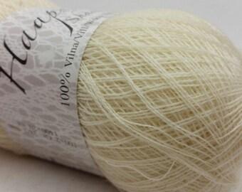 100% Wool Natural White Yarn Haapsalu Shawl Yarn