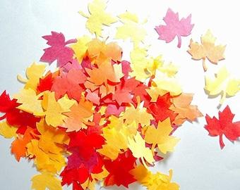 Autumn leaf confetti - stain not - 25 handles (handmade)