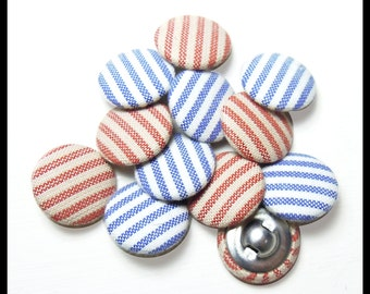 Striped Fabric Buttons